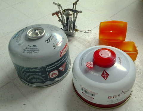 Backpackers love these tiny butane stoves and they work well in a van. But the bottles are expensive, hard to find and totally unsuitable for an emergency,