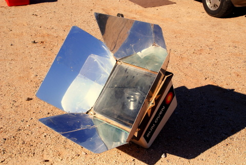 My Global Sun Oven cooking away--I love this thing!