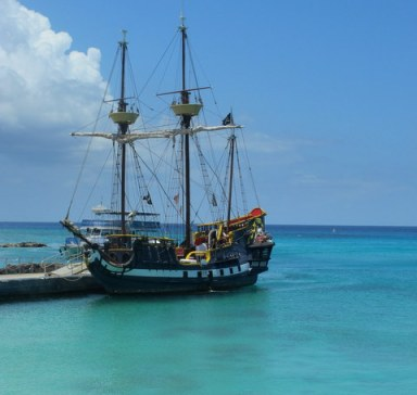 """The original cruise ship! This is the """"pirate ship"""" we 'sailed"""" on."""