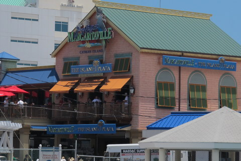 This is Jimmy Buffet's Margaritaville in Grand Cayman. Cruisiing is Margaritaville on a ship!