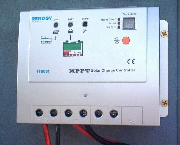 The MPPT controller that came with the kit. It's made by Tracer and is a good quality unit.