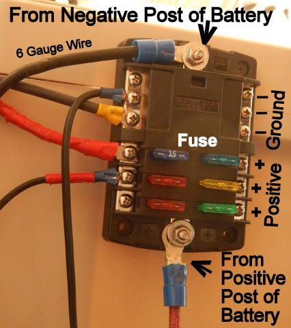 cheap rv living com installing a 12 volt fuse block rh cheaprvliving com 12 volt fuse box jaycar 12 volt fuse box ebay
