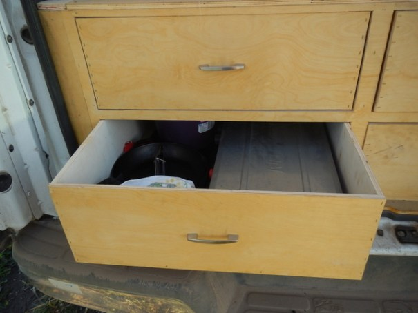 Not only do hte drawers make very good use of he spade, they also make it very easy to organize and find things.