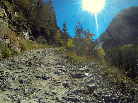But sometimes it was very rocky and gnarly. The GoPro is a great camera, but it can't give you a true picture of how bad the road was sometimes.