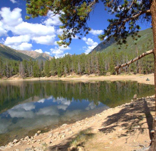 Emerald Lake near Leadville, CO.