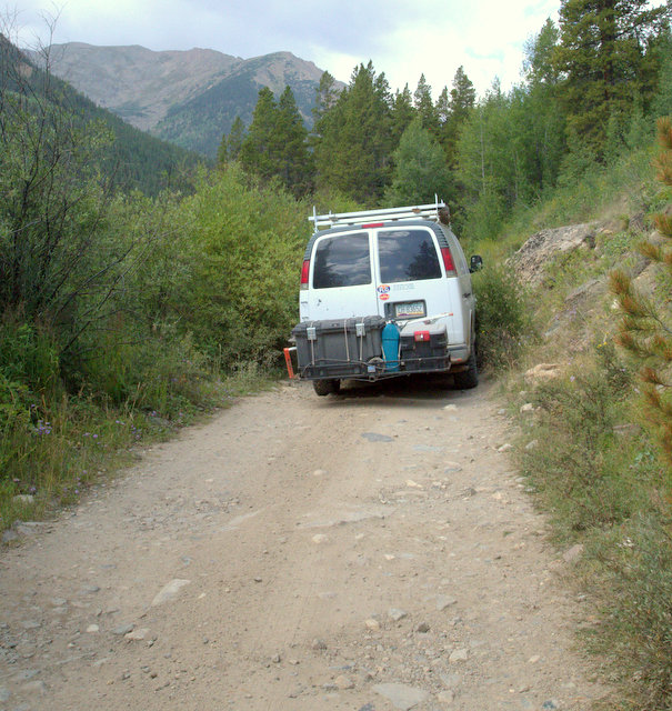 While the road was in good shape and easy, nothing wider than a van would have made it through the narrow places.