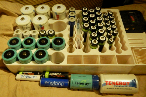 I have enough rechargeable batteries that I can take a dead set out of a device and put in a fresh set and then recharge the drained ones.