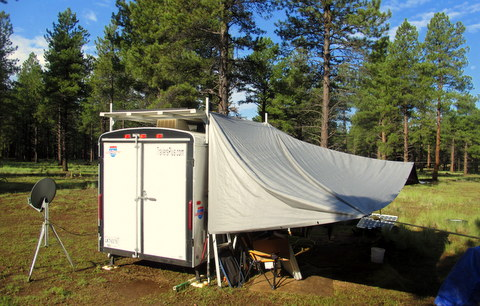 Another view of the tarp-awning.