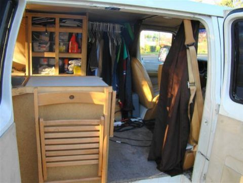 Cheap RV Living com-Steve's Van Conversion