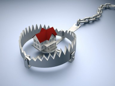 A house is a trap. As soon as you take it the jaws clamp down hard on your hand and won't let go.