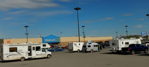 There is a Walmart as far north as Whitehorse, Yukon Territories, but most prices in it are close to double or more what they are in the United States.