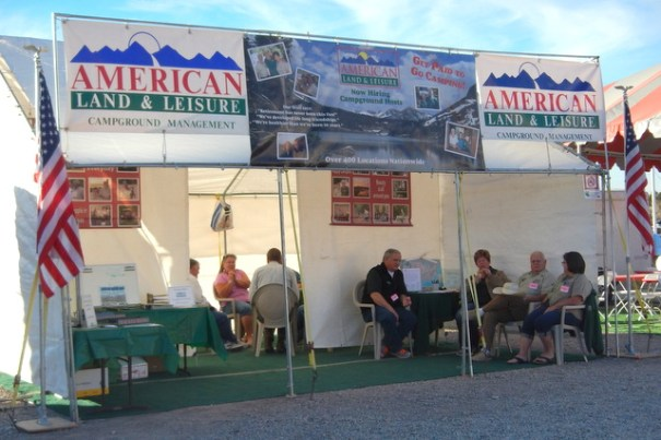 American Land and Lesiure is a ery lalrge company and they were there hiring campground hosts for the following summer.