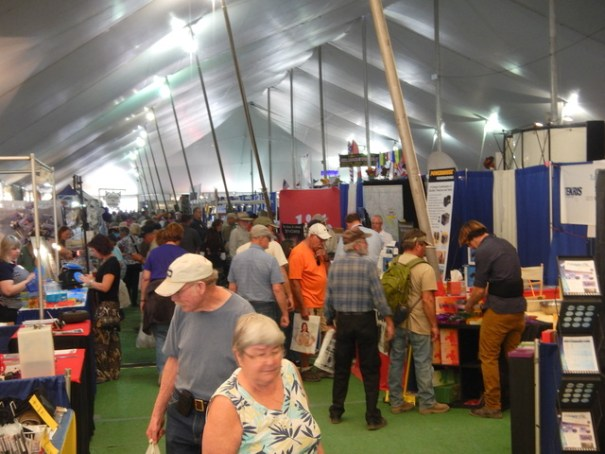 One good reason to come to the RTR is the Big Tent RV Show. It really is a big tent!