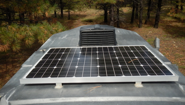 A 100 Watt Solar Panel Meets All His Needs