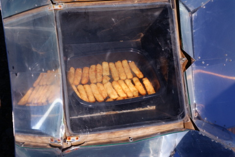 The ultimate comfort food, fishsticks, cooking.