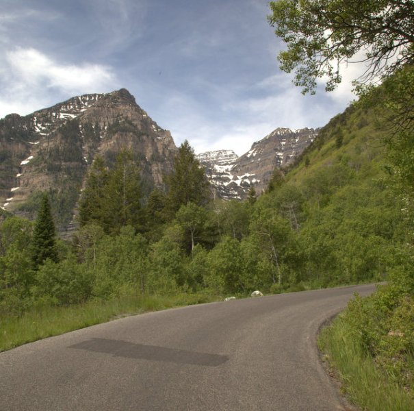 The Alpine Loop Byway near Robert Redford's Sundance Ski Lodge.
