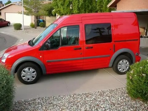 The 2010 Ford Transit. It gets up to 28 mpg!