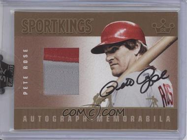 2007 Sportkings Autograph Memorabilia Gold #AMPRO - Pete Rose Jsy/10 - Courtesy of CheckOutMyCards.com