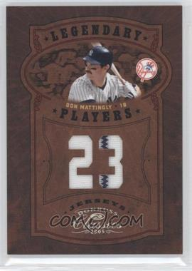 2005 Donruss Classics Legendary Players Jersey Number #10 - Don Mattingly/23 - Courtesy of CheckOutMyCards.com