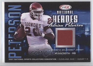 2007 SAGE National Convention National Heroes Jerseys #NH2 - Adrian Peterson - Courtesy of CheckOutMyCards.com