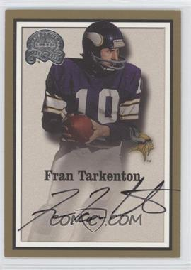 2000 Greats of the Game Gold Border Autographs #76 - Fran Tarkenton - Courtesy of COMC.com