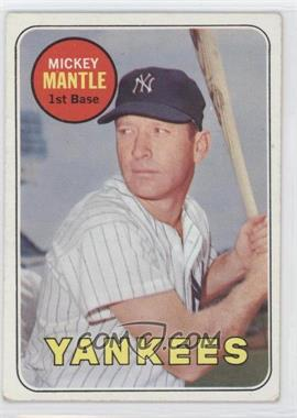 1969 Topps #500A - Mickey Mantle UER (No Topps Copyright on Back) - Courtesy of CheckOutMyCards.com