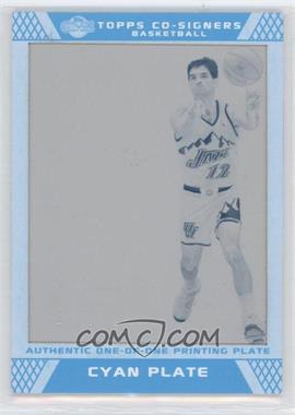 2007-08 Topps Co-Signers Press Plates Cyan #31 - John Stockton/1 - Courtesy of CheckOutMyCards.com