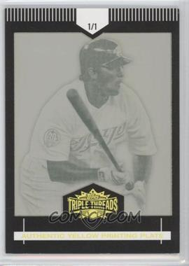 2007 Topps Triple Threads Framed Printing Plates Yellow #24 - Troy Glaus/1 - Courtesy of CheckOutMyCards.com