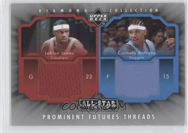 2004-05 Upper Deck All-Star Lineup Prominent Futures Threads #JA - LeBron James Carmelo Anthony - Courtesy of CheckOutMyCards.com