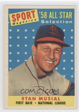 1958 Topps #476 - Stan Musial AS TP - Courtesy of CheckOutMyCards.com