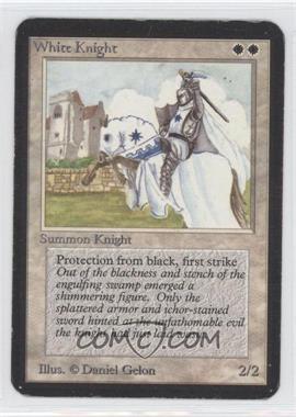 1993 Magic the Gathering Alpha #287 - White Knight U :W: - Courtesy of CheckOutMyCards.com