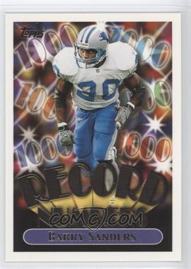 1999 Topps Record Numbers Gold #RN4 - Barry Sanders/1000 - Courtesy of CheckOutMyCards.com