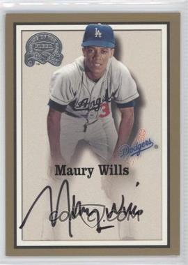 2000 Greats of the Game Autographs #89 - Maury Wills - Courtesy of CheckOutMyCards.com