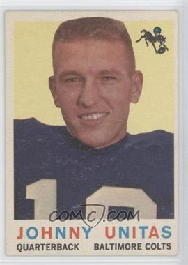 1959 Topps #1 - Johnny Unitas - Courtesy of CheckOutMyCards.com