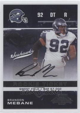 2007 Playoff Contenders #117 - Brandon Mebane AU RC (Rookie Card) - Courtesy of CheckOutMyCards.com