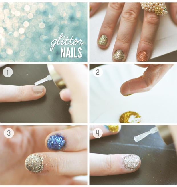How To Do Fading Glitter Nail Art Ideas