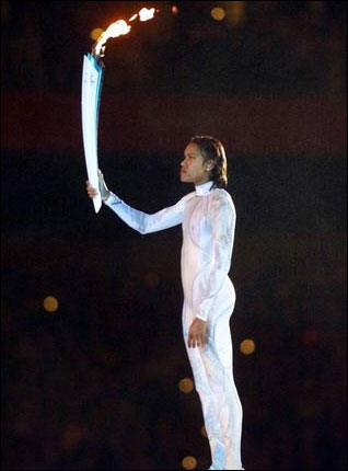 Cathy Freeman lights the Olympic Flame, Sydney 2000