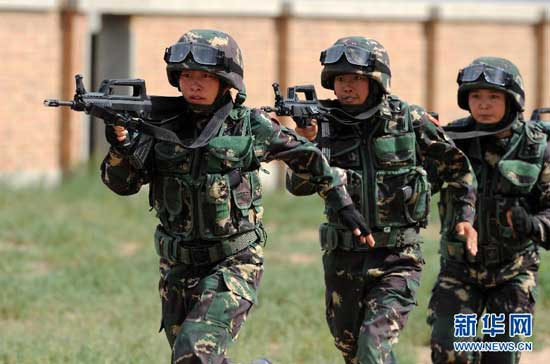 Chinese female special forces feature in anti-terrorism ...