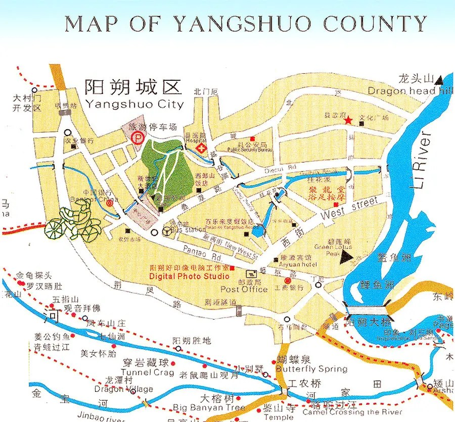 Mapa Yangshuo [chinahighlights.com]