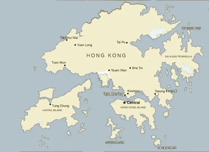 Resultado de imagen de hong kong map