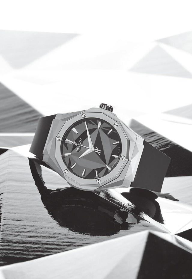 HUBLOT經典融合系列Olinski女性腕表(鈦金屬款),35萬7000元。(HUBLOT提供)