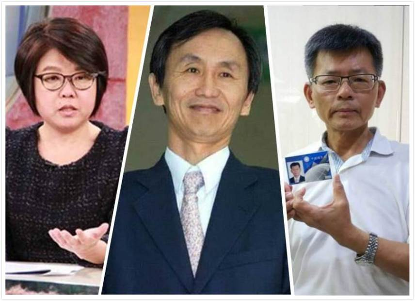 黃光芹(左),吳子嘉(中),楊秋興(右)。(中時資料照)