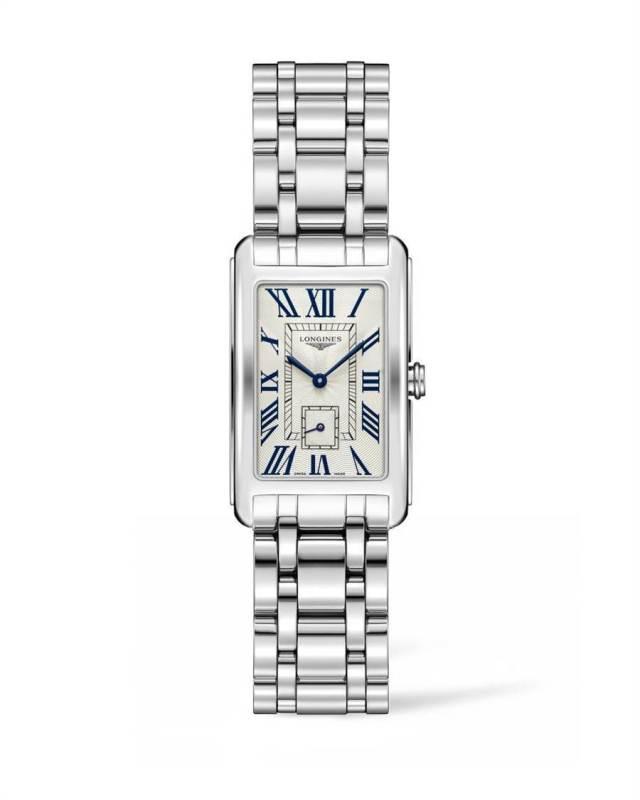 賴雅妍在戲中配戴浪琴表DolceVita新多情系列女仕腕表,4萬1500元。(Longines提供)