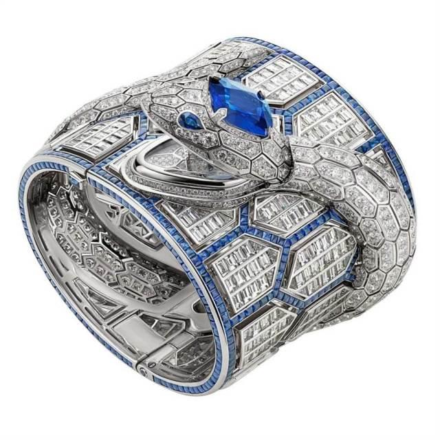 寶格麗Serpenti Misteriosi Romani鑽表拿下「最佳珠寶表獎」。(BVLGARI提供)