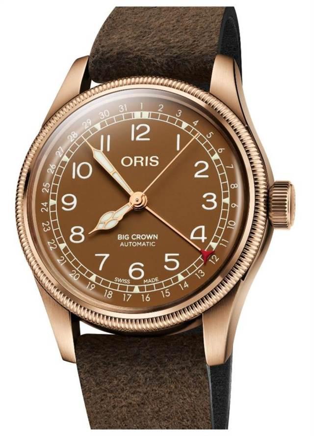 ORIS Big Crown指針式日期青銅表,6萬元。(ORIS提供 )
