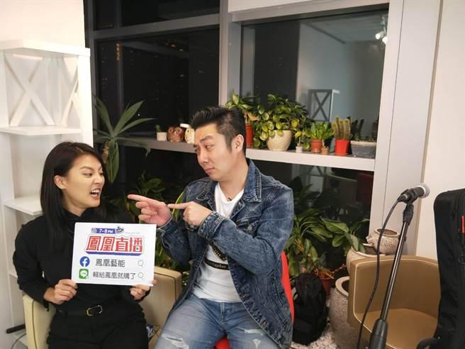 顏曉筠跟艾成直播中開放觀眾點歌,炒熱氣氛。(民視提供)