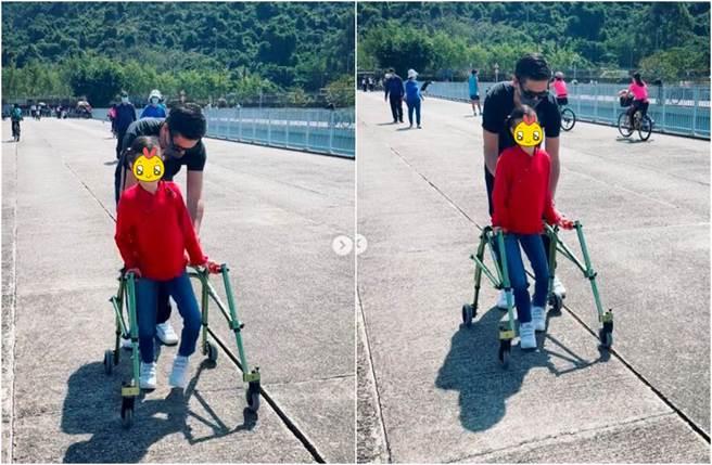 Isabella現在已經10歲,努力走路的畫面感動許多人。(圖/翻攝自IG)