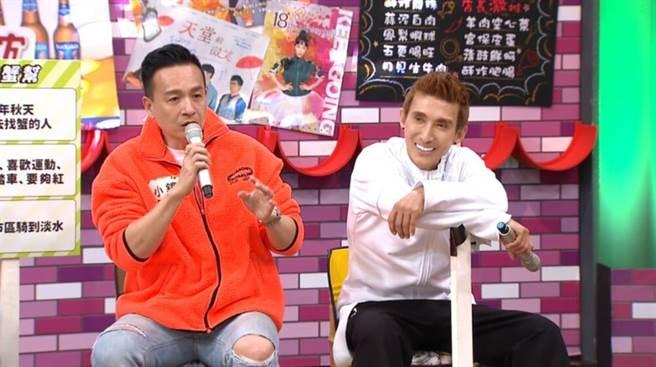 潘若迪(右)、小鐘互爆糗事。(TVBS提供)