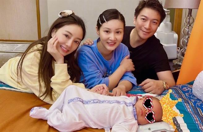 李小璐分享去馬智宇家探望寶寶照片。(圖/翻攝自李小璐Super璐微博)