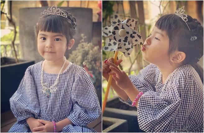 Bo妞當小公主,被媽媽吐槽不適合。(圖/翻攝自臉書)
